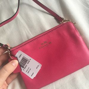 Brand New Hot Pink Coach Wristlet